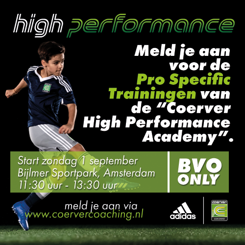 Coerver Coaching – High Performance seizoen 2019 – 2020